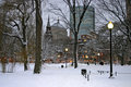 Boston Winter Stock Image