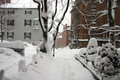 Boston winter stock image of a snowing at massachusetts usa Royalty Free Stock Photo