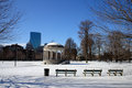 Boston winter stock image of a snowing at massachusetts usa Stock Photos