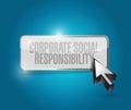 Botón de la responsabilidad social corporativa Fotografía de archivo