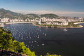 Botafogo beach and guanabara bay rio de janeiro brazil view from sugarloaf mountain Royalty Free Stock Photo