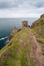 Botallack Tin mines in Cornwall Uk England Royalty Free Stock Photo
