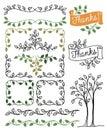 Botanical Borders and Frames/eps Royalty Free Stock Photo