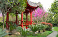 The botanical garden beauty of chinese and architecture Stock Photos