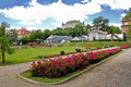 Botanical garden in town of zagreb croatia Royalty Free Stock Images