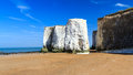 Botany bay broadstairs kent england chalk cliffs at beach at on the coastline uk Royalty Free Stock Photos