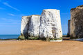 Botany bay broadstairs kent england chalk cliffs at beach at on the coastline uk Royalty Free Stock Images