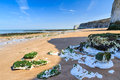 Botany bay broadstairs kent england chalk cliffs at beach at on the coastline uk Royalty Free Stock Image