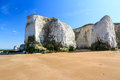 Botany bay broadstairs kent england chalk cliffs at beach at on the coastline uk Stock Photo