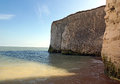 Botany bay chalk cliffs the of kent uk that line the beach front on the coast line Royalty Free Stock Image