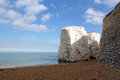 Botany bay chalk rocks and cliffs of kent uk sit on the beach front and a secret cove lies just through the gap Royalty Free Stock Photography