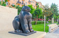 The Botero's Cat in Yerevan Royalty Free Stock Photo