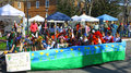 Botetourt elementary kids float gloucester virginia april in the daffodil parade on april in gloucester virginia in its th year Stock Photo