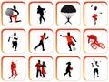 Botones del deporte Imagen de archivo libre de regalías