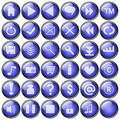 Botones del Web Fotografía de archivo