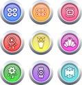 Botones retros Imagen de archivo libre de regalías