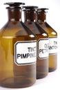 Bottiglie farmaceutiche Fotografia Stock