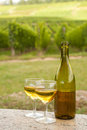 Bottle of Alsace wine Stock Photos
