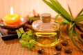 Bottle of aromatic essence oil Stock Photography