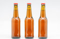 Bottle of beer macro photograph bottles on white background Stock Photo