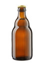 Bottle of beer on a white background Stock Images