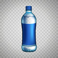 Bottle with blue label Royalty Free Stock Photo