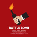 Bottle bomb hand holding vector illustration Stock Images