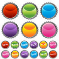Bottle Cap Button Set Stock Images
