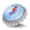 Bottle cap and cocktail party in the night Royalty Free Stock Photos