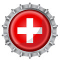 Bottle cap flag Royalty Free Stock Photo