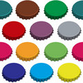 Bottle caps seamless background pattern Stock Photos