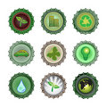 Bottle caps set-enviroment Royalty Free Stock Photography