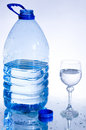 Bottle of a clean spring water Stock Image