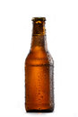 Bottle of cold beer Royalty Free Stock Photo