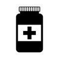 Bottle drug isolated icon