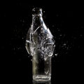 Bottle explosion high speed photo of Royalty Free Stock Images