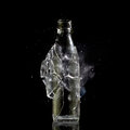 Bottle explosion high speed photo of Stock Image