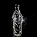 Bottle explosion high speed photo of Stock Photo