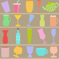 Bottle and Glass in Pastel Royalty Free Stock Images