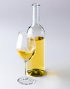 Bottle glass white wine Royalty Free Stock Image