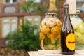 Bottle of handmade apple cider