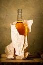 Bottle of hard liquer Royalty Free Stock Photo