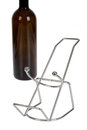 Bottle holder with empty wine in the background Royalty Free Stock Image