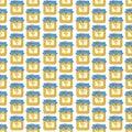 Fľaša alebo škrípať z med bezšvový vzor tlač na tkanina textilné byt vektor sklad ilustrácie džem