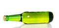 The bottle of light lager beer isolated on white Royalty Free Stock Photography