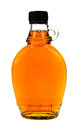 Bottle of maple syrup Royalty Free Stock Image