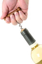 Bottle opener white wine with Stock Photography