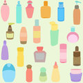 Bottle, perfume, glass, containers in Pastel Stock Photography