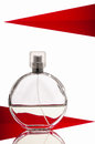 Bottle of perfume isolated over a white background Royalty Free Stock Photo