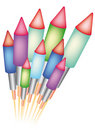 Bottle rockets Stock Photography